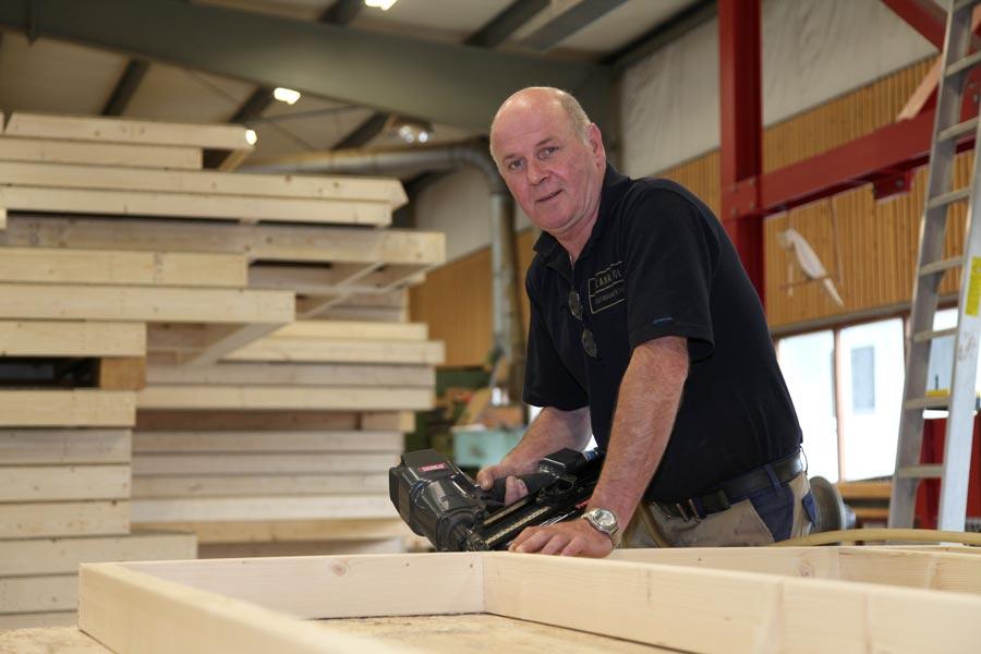 Johan Arends, productie houtbouw / houtskeletbouw