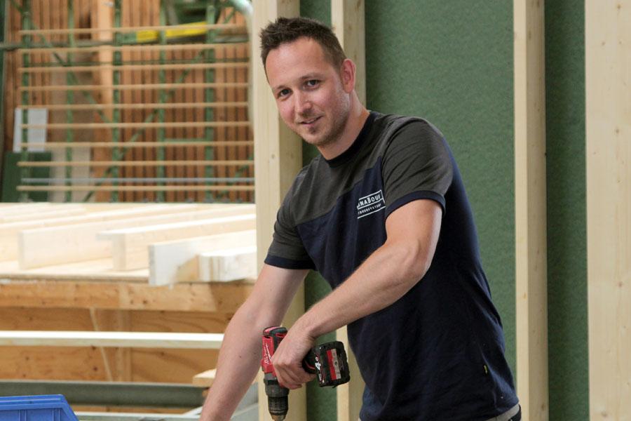 Sjors de Vries, productie houtbouw / houtskeletbouw