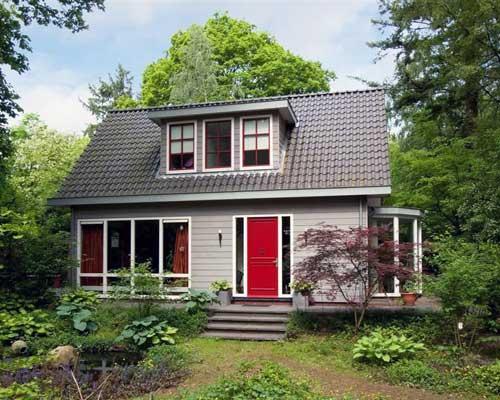 Houten huizen scanabouw houtskeletbouw - Houten huis ...