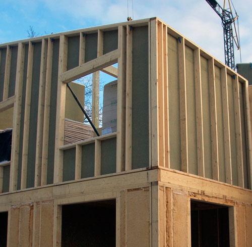 Opbouw van een huis in houtskeletbouw