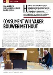 Artikel over ScanaBouw in het magazine Houtwereld